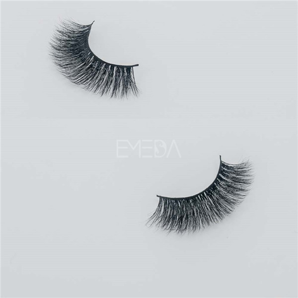 Permanent false eyelashes 3D mink fur material E15