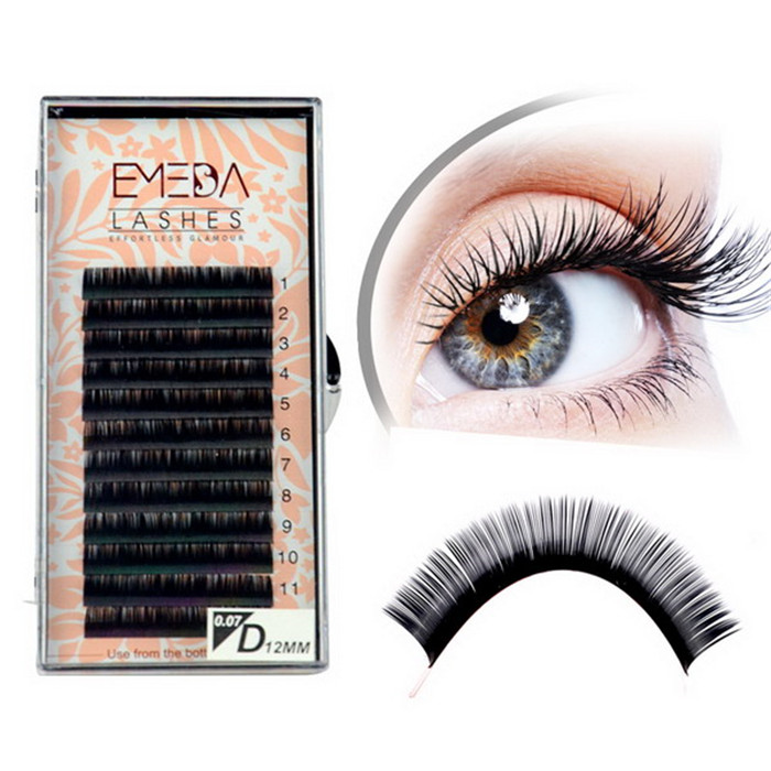 Natural silk eyelash lashes extension JH57-PY1
