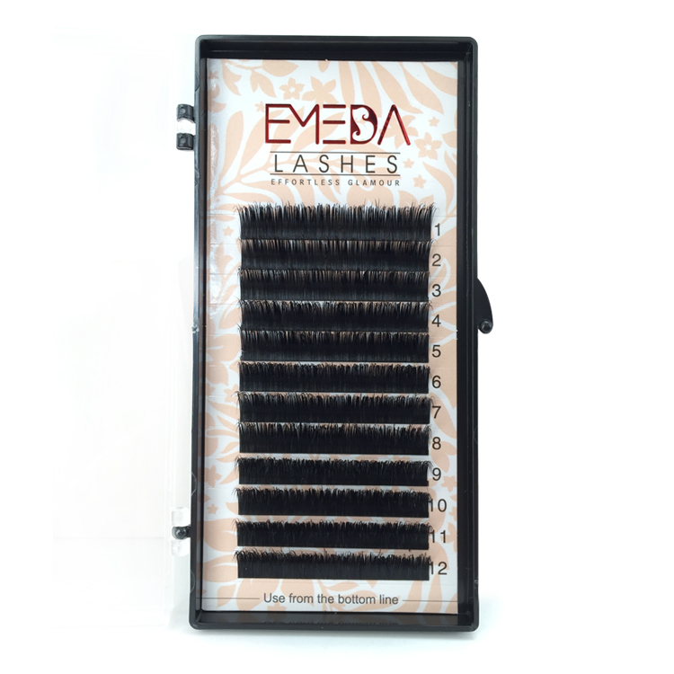 Fast Shipping Real Mink Fur Eyelash Extension with wholesale Price Mink Lash Extensions with Private Box YY134