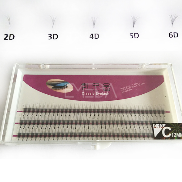 3D,6D individual silk mink eyelash extension S18
