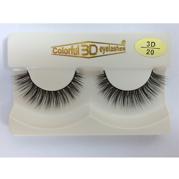 Stock wholesale 3D silk eyelash colorful E03