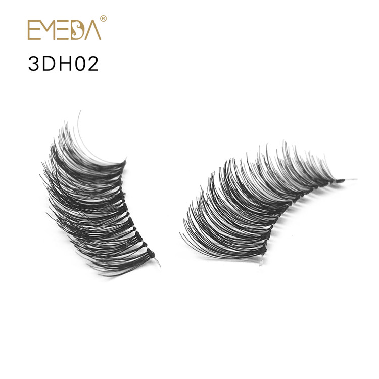 Unique Real 3D Human Hair False Eyelashes Y-PY1