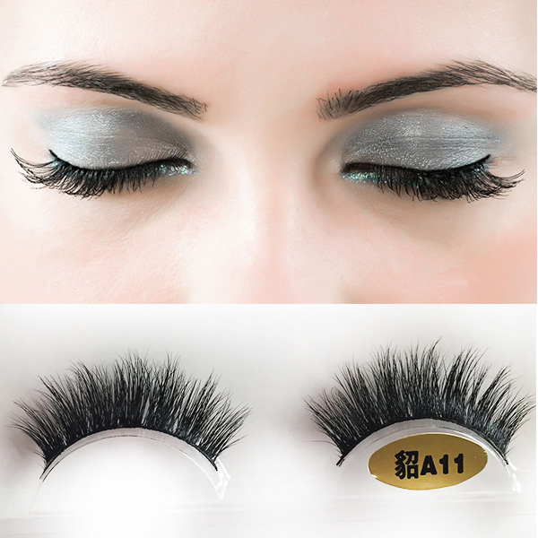 Authentic mink fur 3D mink false eyelashes S43