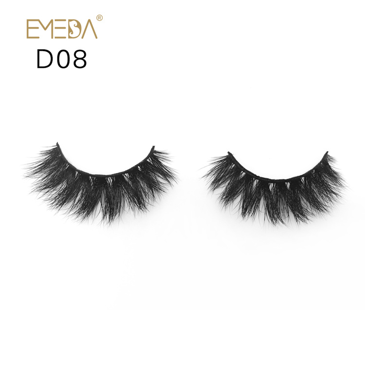 100% Siberian Real Mink Furs Eyelashes,Strips Individual 3D Mink Eyelash Wholesale Supplies YH018