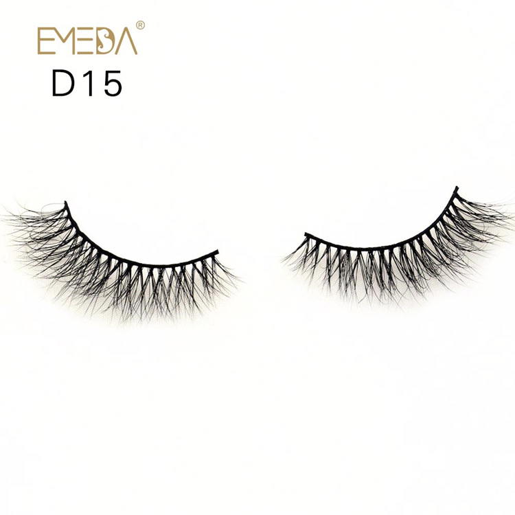 Mink Eyelashes 3D Real Furs,100% Handmade Natural Mink Eyelash On Wholesale YH025