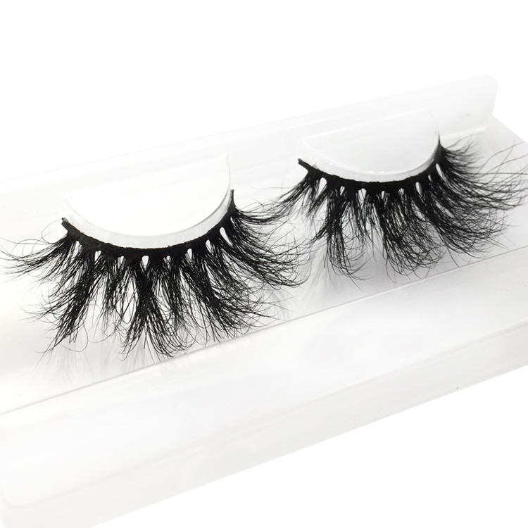 25mm Long 3D Mink Eyelashes 100% Siberian Fur Dramatic Look Handmade Strip Lashes for Makeup XJ13