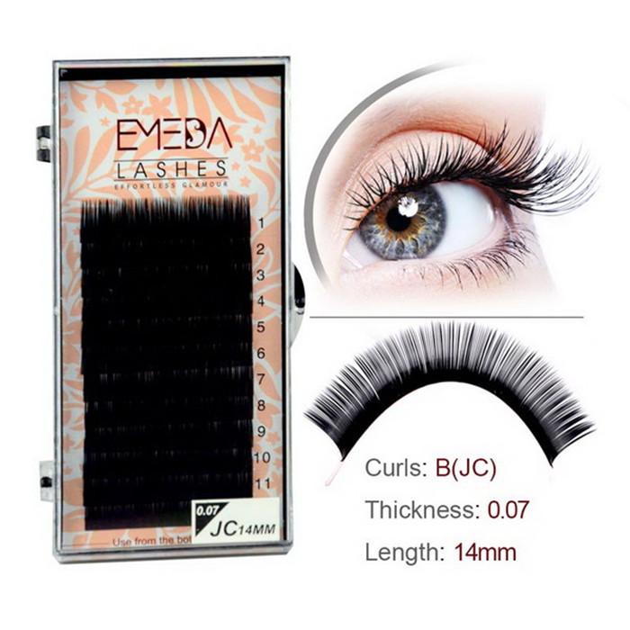 c636a18436d Wholesale silk eyelash extension lashes JH151 - Emeda eyelash