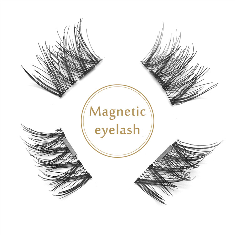 Factory Wholesale Handmade Silk Eyelash Strip Magnet Lash JE62