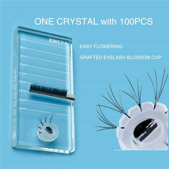 Eyelash extension Glass Crystal tray JH202
