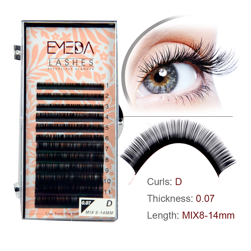 Synthetic eyelash extensions Silk Fiber lashes JH007