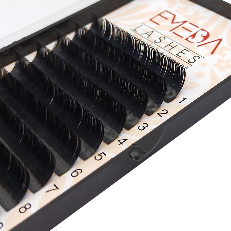 PBT material mink lashes extension flat ellipse Li1205