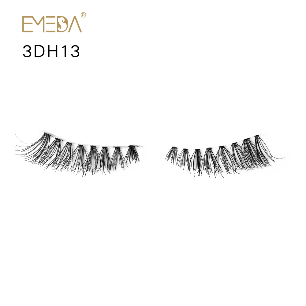 Hot Selling Human Hair Eyelashes Factory Manufacturers Customized Package YL33