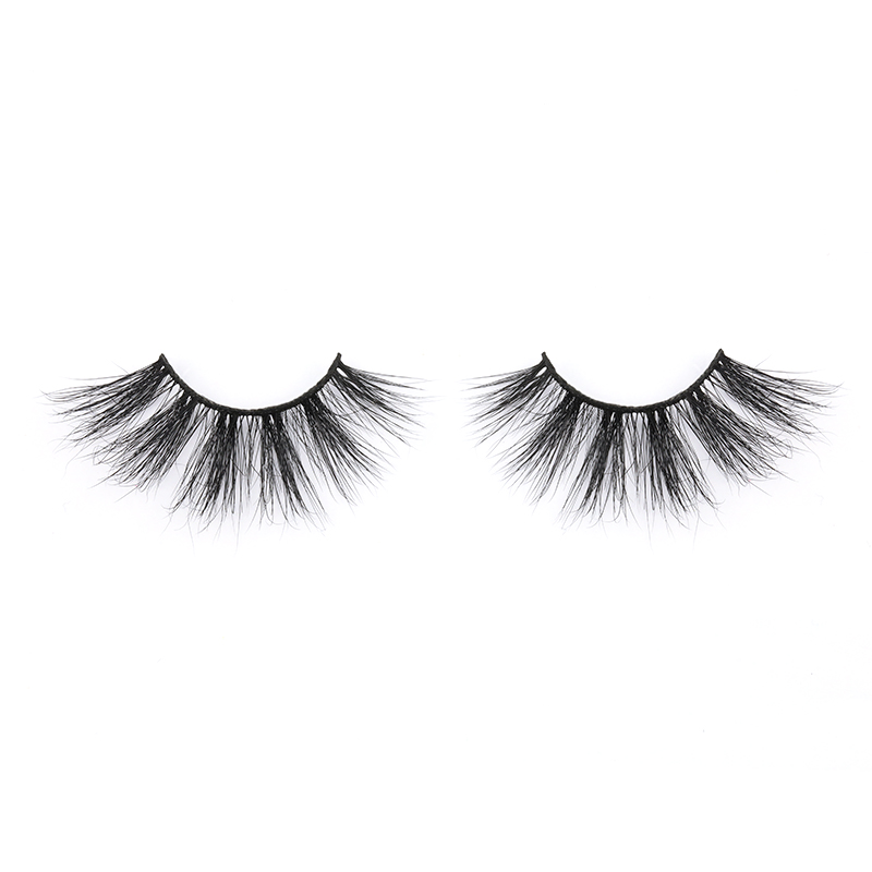 Wholesale Pirce for 3D Real Mink Fur 25mm Strip Lashes with Private Label in 2020 YY125