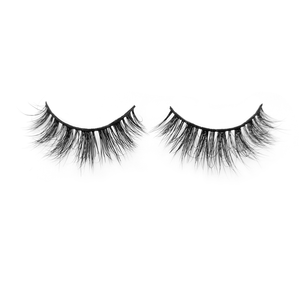Best Wholesale Price for Soft/Lightweight 3D Mink Fur Eyelashes 22MM Black Band Strip Lashes with Customized Package YY85