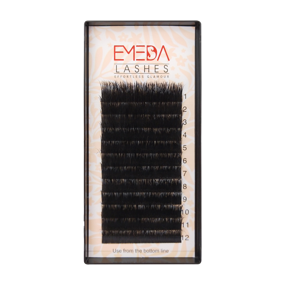 Wholesale Price for  C D Curl  Real Mink Fur Eyelash Extensions 8-15mm Length YY56