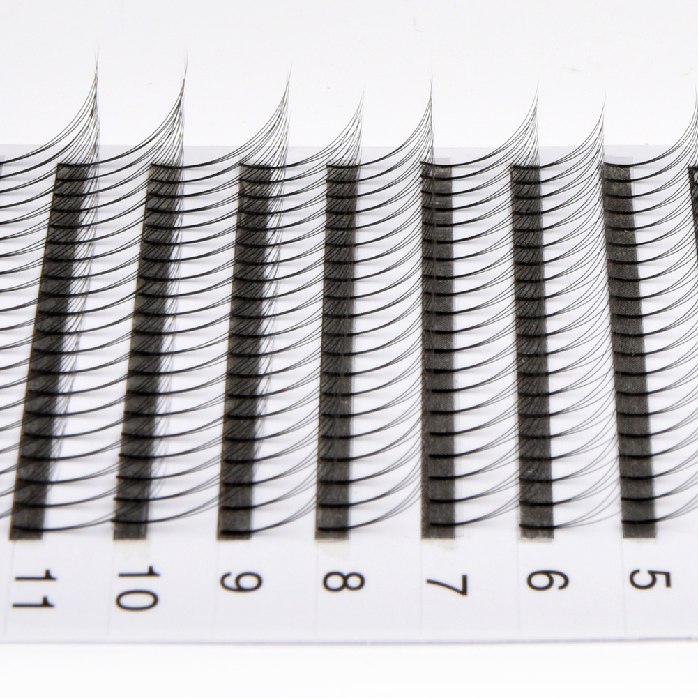 Thickness 0.07mm Russian Volume Premade Fans Eyelash Extensions C/D Curl  YL12