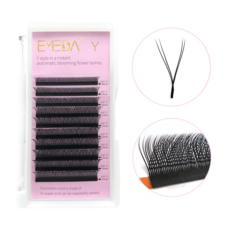 Y Shape Weave Rapid Blooming Eyelash Extensions Wholesaler PY1