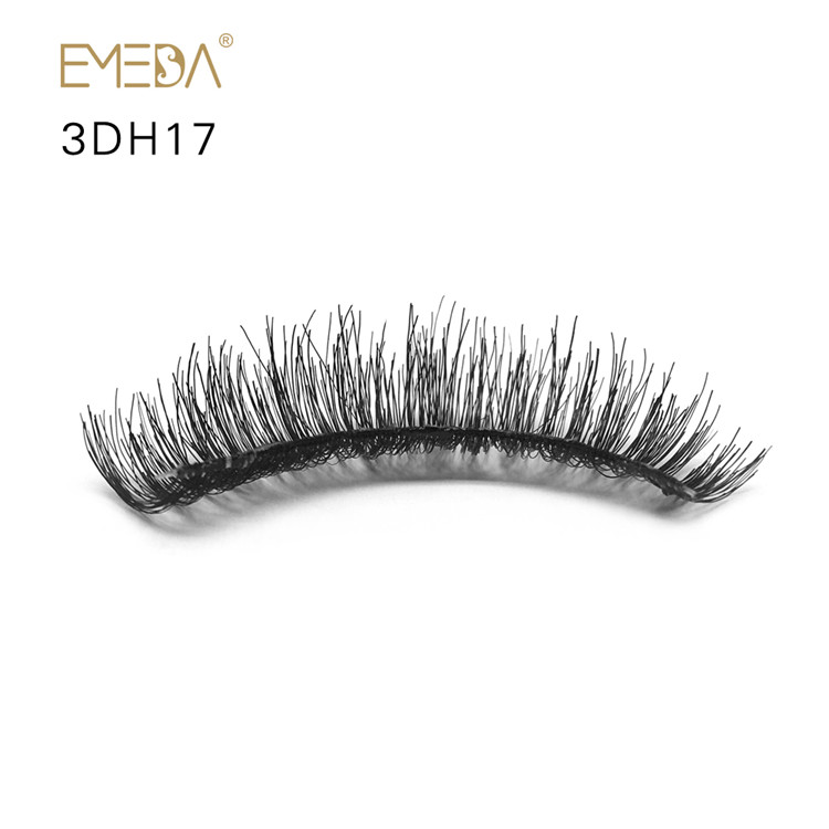 Human Hair Colored False Eyelashes PY1