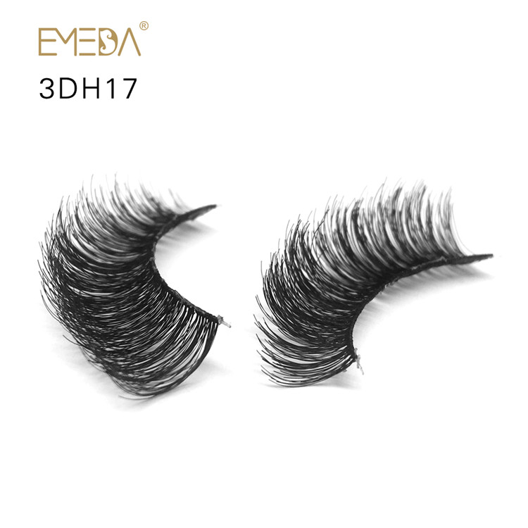 100% Human Hair Made Natural False Lashes L-PY1