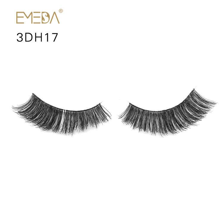 Soft Handmade  Human Hair Eyelashes PY1