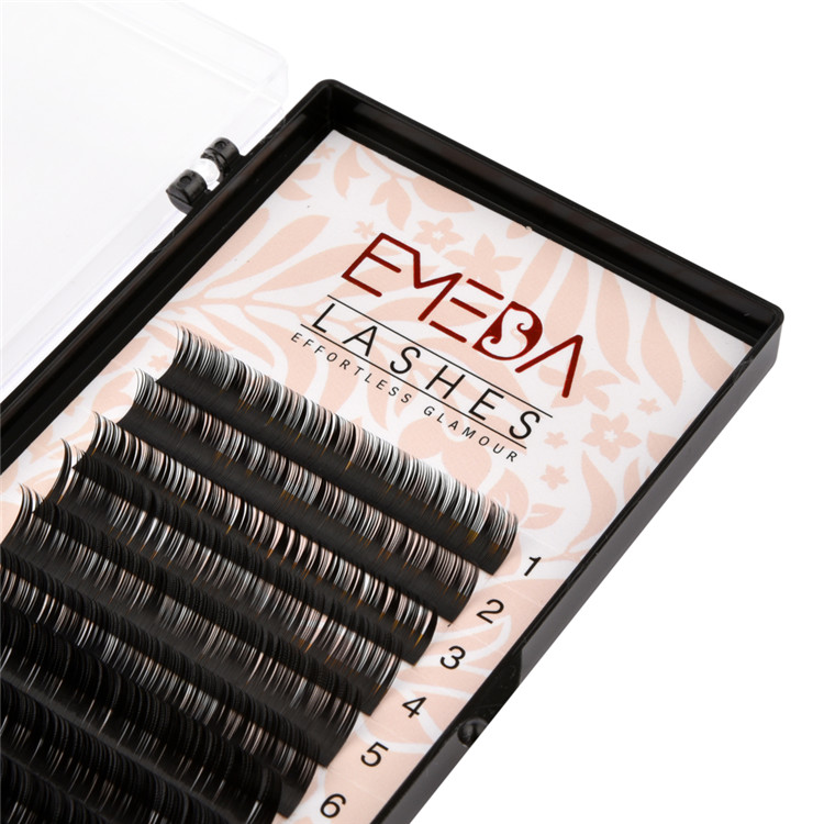 Korean Eyelash Extension Supplies Custom Private Label Eyelashes
