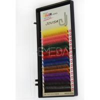 Rainbow colored silk mink eyelash extensions S63