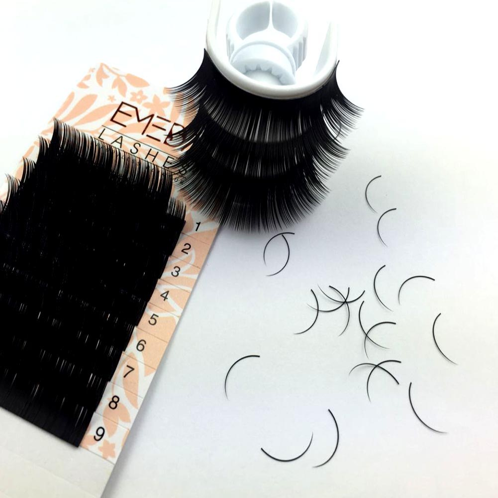 Best Eyelash Extension Vendor Supply 100% Handmade Korean PBT Fiber Lash Extensions ZX13