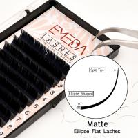 Private Label Ellipse Flat Eyelash Extensions JN12