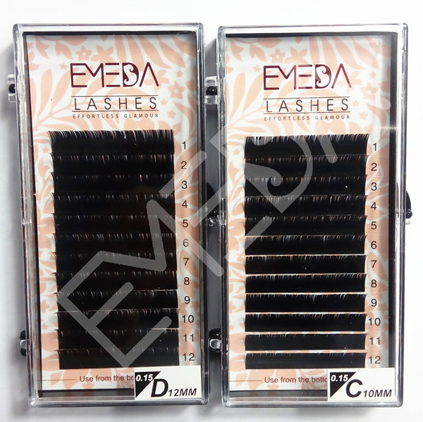 Novalash 0 15mm flat eyelash extensions SD064 - Emeda eyelash