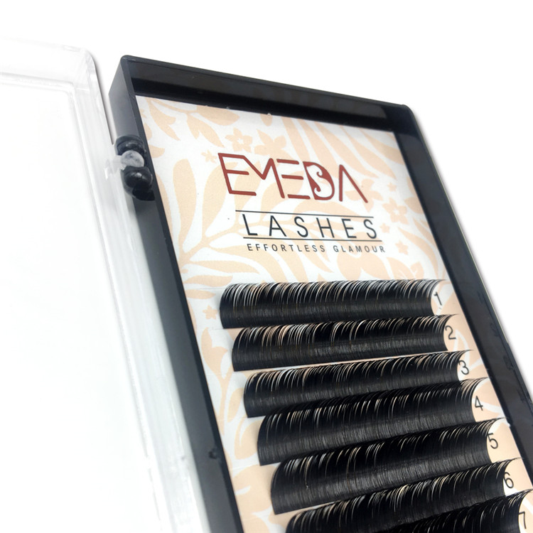 Eyelash Supplier  Wholesale Flat Eyelash Extension Private Label lashes Li16