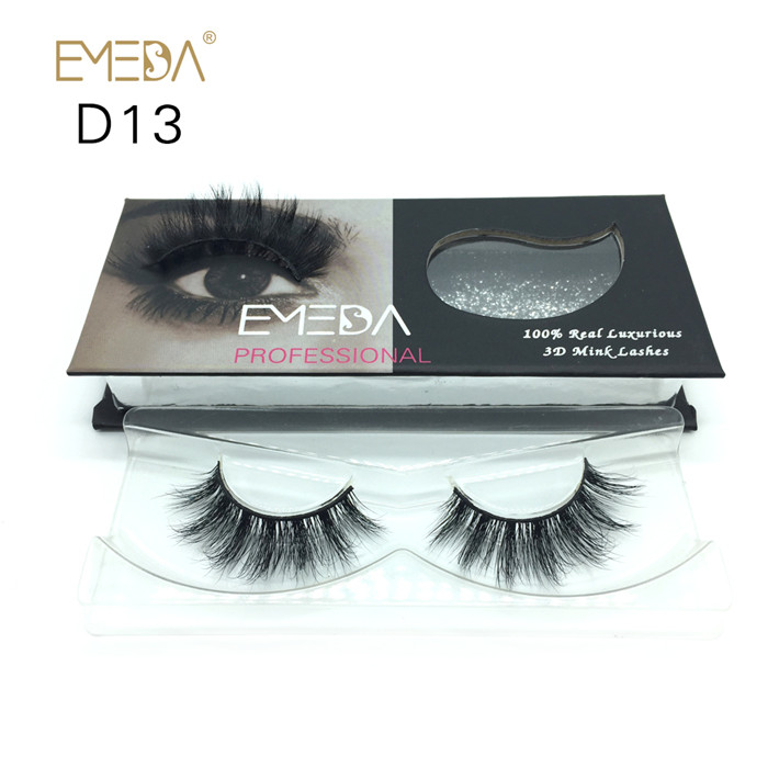 Volumed 3D mink eyelashes factory price JH114