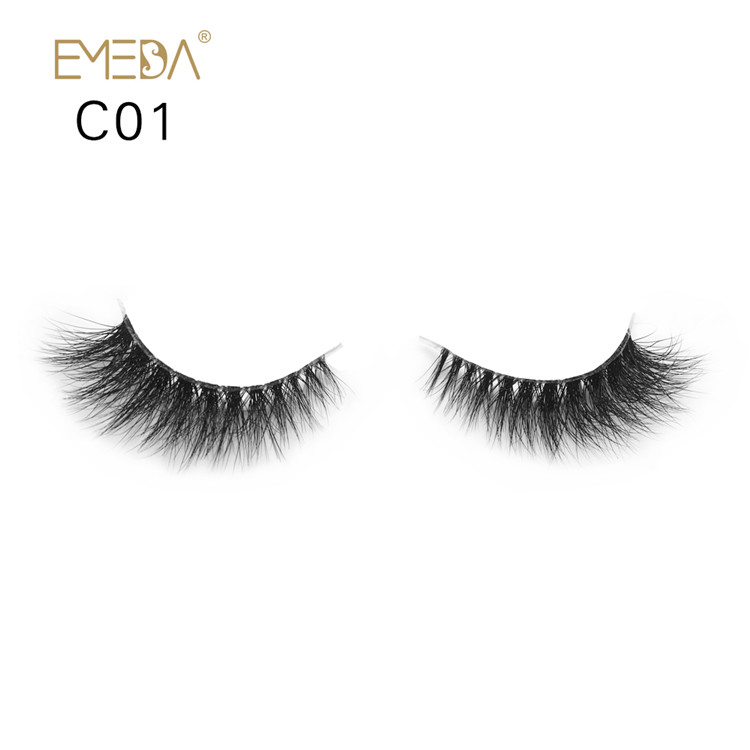 Wholesale Tiny 3d Natural Mink Eyelashes Y-55