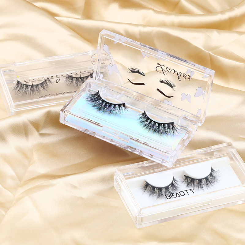 Inquiry for wholesale 2021 New 18-22mm 3D mink lashes of Daily Crossed Cluster Type super soft and comfortable Siberian Mink Fur  with Private label lash case in US XJ43