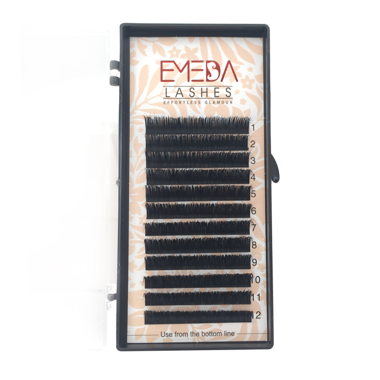 Private Label for 100% Real Mink Fur Eyelash Extension C D Curl in the UK/US YY33