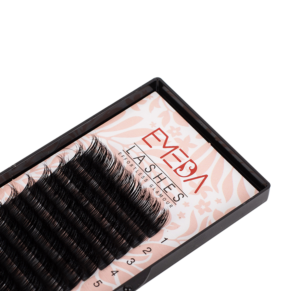 Wholesale Premium 100% Real Mink Eyelash Extension with Private Label ZX07