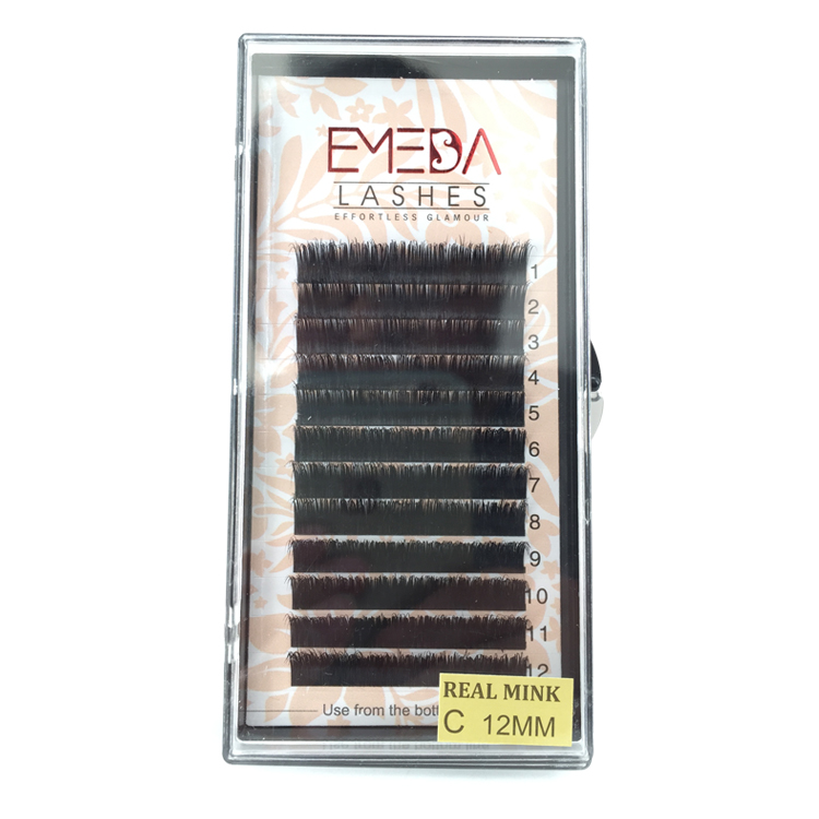 Individual lashes 100 Real Mink Eyelash Extensions Wholesale Price Private Label JN01