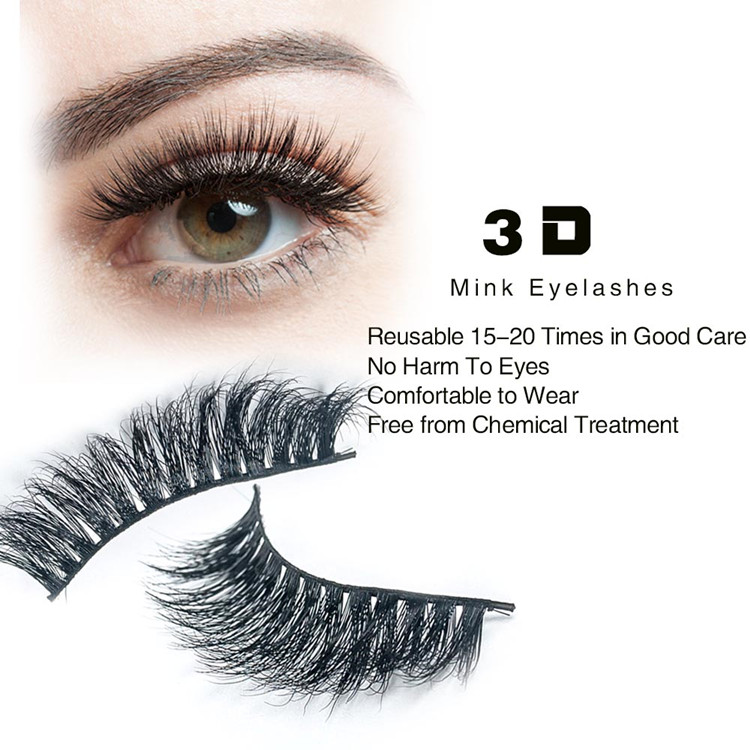 Reuseable Soft Real Natural Mink  Eyelashes Y-48