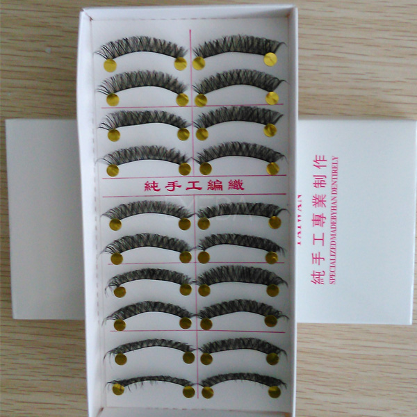 10 pairs in a tray cheap eyelashes stock lashL71