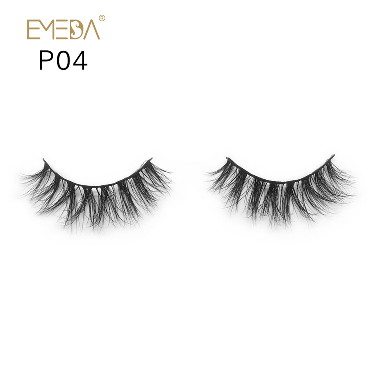 Wholesale Real Mink Fur Eyelashes Vendors,3D Mink Lashes Strips YH004