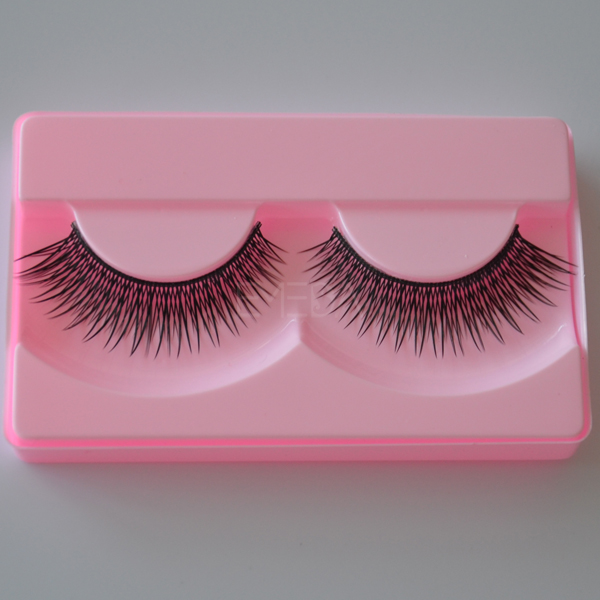 Private logo synthetic fiber eyelashes L77
