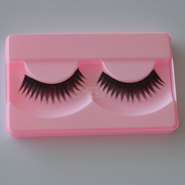 Soft synthetic fiber eyelash customize pack L78