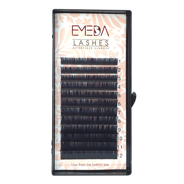 Free Samples Acceptable for High-quality Korea PBT Fiber Eyelash Extensions with Private Box YY137