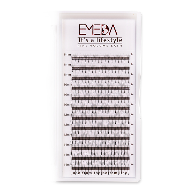 Wholesale Russian Volume Lash Eyelash Extension Premade Fanned Volume Lashes ZX03