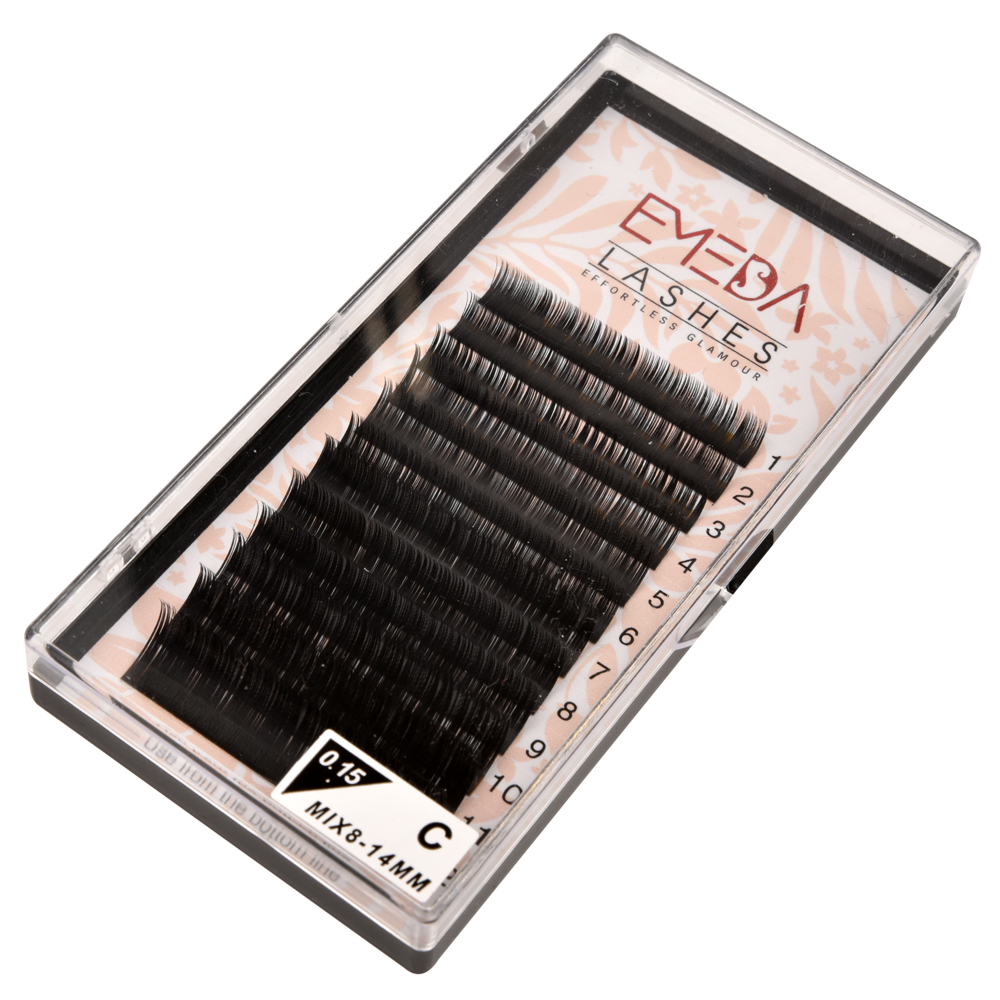 2020 Best Selling 0.07 0.1 Volume Eyelashes Extension with Private Label and Box YY28