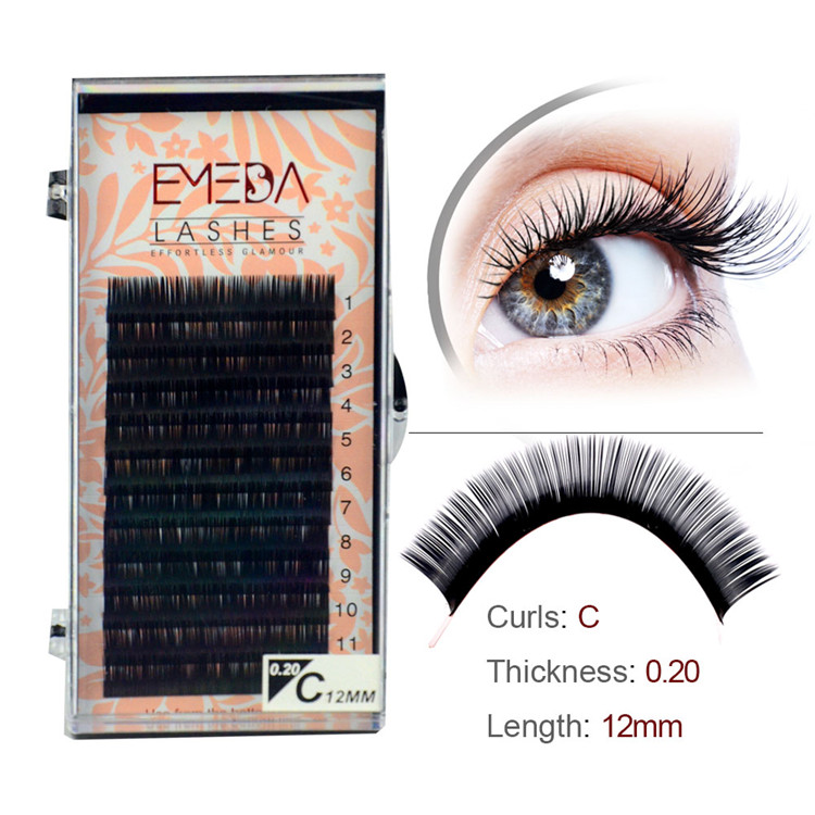 Wholesale Thick Volum PBT Eyelash Extensions PY1
