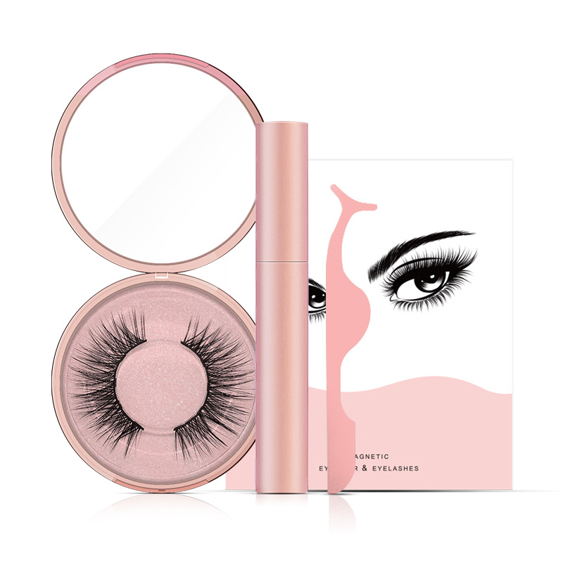 Magnetic Eyeliner With 3D Magnetic Eyelashes & Tweezers JN016