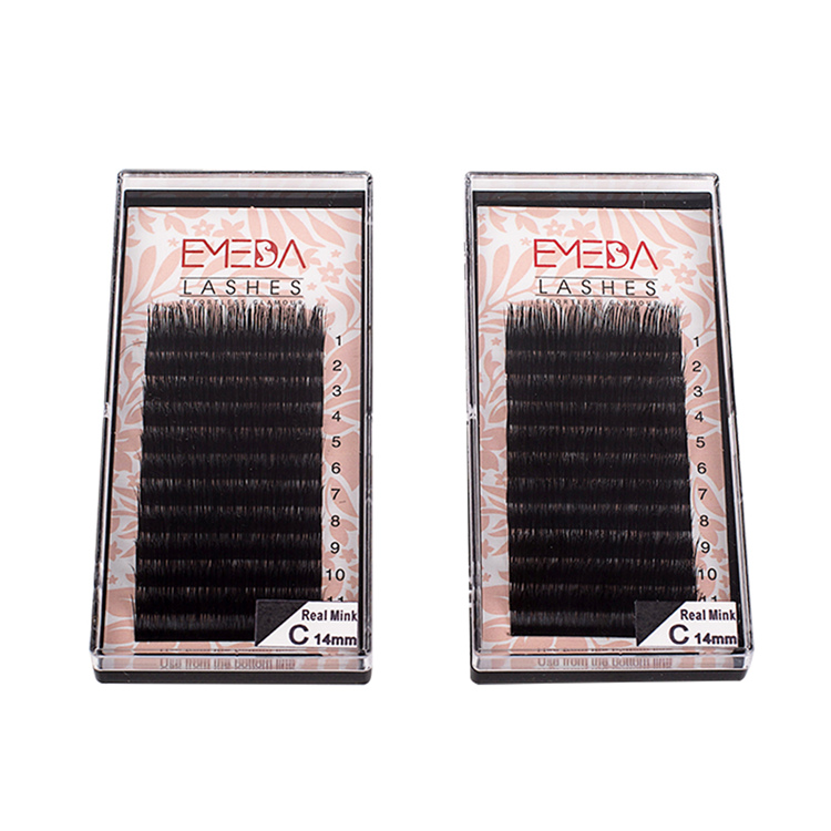 Siberian Real Mink Eyelash Extensions Supplier Wholesale Individual Lashes PY1