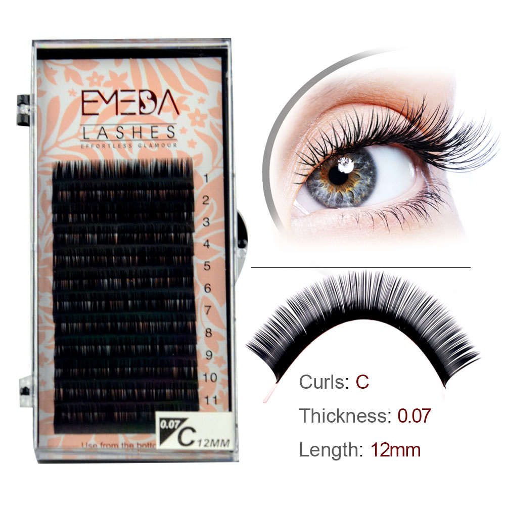 Luxury Silk False Eyelashes Wholesale Price Individual Lashes with Your Own Logo YY12