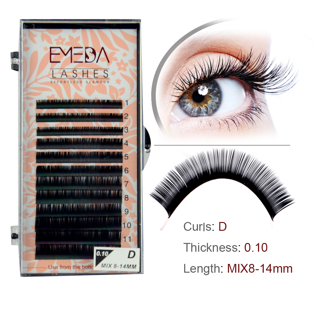 Factory Price Volume Lash Extension made of  Korea PBT Fiber Individual Lashes with Private Label and Package YY23